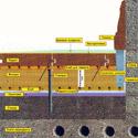 Схема настилки паркета по бетонному основанию.